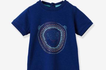 bedrucktes Jungen Shirt für Babys marine