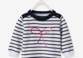 gestreifter Pullover für Baby Mädchen blau gestreift
