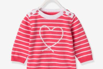 gestreifter Pullover für Baby Mädchen himbeer gestreift