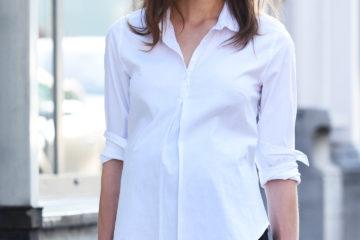 weiße Bluse für die Schwangerschaft weiß